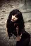 piękne dziewczyny goth ruiny Obraz Stock