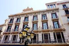 Piękne fasady niektóre domy w Barcelona Obraz Stock