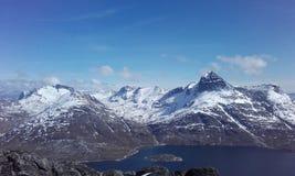 Piękne góry Greenland Nuuk Woaw Fotografia Stock