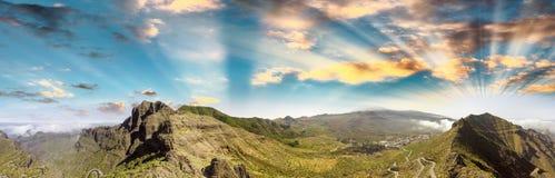 Piękne góry Tenerife, wyspy kanaryjska widok z lotu ptaka Zdjęcia Royalty Free