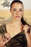 Piękne kobiet jednostki specjalne Obraz Royalty Free