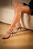 Piękne kobiet nogi obrazy royalty free