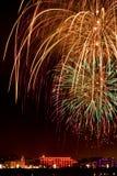 piękne kolorowe fajerwerki Zdjęcia Royalty Free