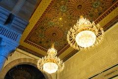 Piękne lampy na suficie meczet w Carthage zdjęcie royalty free