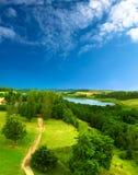 piękne lato krajobrazu Zdjęcia Royalty Free