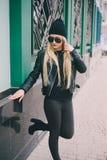 Piękne mod dziewczyny plenerowe Zdjęcie Royalty Free