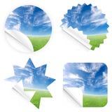 piękne niebieskie nieba horizon nalepki Fotografia Stock