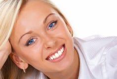 piękne niebieskie oczy Zdjęcia Stock
