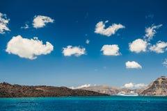 Piękne niebo chmury wyspy greckie Fotografia Stock