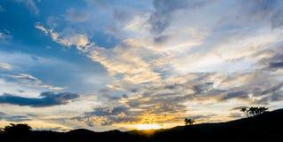 piękne niebo wzroku sunset bardzo Obrazy Royalty Free