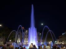 Piękne nocy fontanny Obrazy Royalty Free