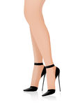 piękne nogi s kobiety Obrazy Royalty Free