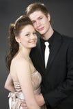 piękne pary portret obejmowania young Obraz Stock