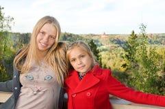 piękne siostry dwa Zdjęcie Royalty Free