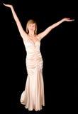 piękne sukni wieczorowej panie young Obrazy Stock