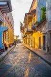 Piękne ulicy w Cartagena, Kolumbia Zdjęcie Royalty Free