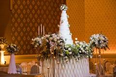 piękne wesele ciasta zdjęcie stock
