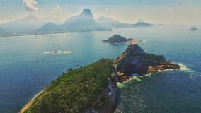 Piękne wyspy przy Rio De Janeiro Obrazy Royalty Free