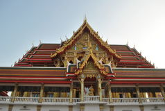 Pięknego buddyjskiego budynku wata buakwan nonthaburi Thailand zdjęcie royalty free