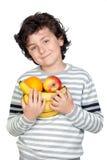 pięknego dziecka owoc dużo obraz stock
