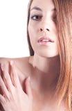 pięknego headshot odosobneni portreta kobiety potomstwa Obraz Royalty Free