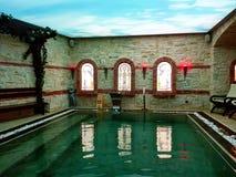 Pięknego inside termiczny basen Zdjęcie Stock