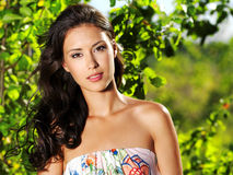 pięknego outdoors seksowna kobieta Zdjęcie Royalty Free