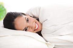pięknego portreta odpoczynkowa kobieta Zdjęcie Stock