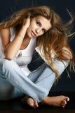 pięknego portreta seksowna kobieta Zdjęcia Royalty Free