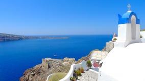 Pięknego santorini panoramiczny widok Zdjęcie Royalty Free