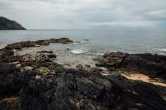 Pięknego widoku morza kamienie Zdjęcie Stock