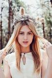 pięknej blondynki plenerowa kobieta Obrazy Royalty Free