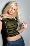 pięknej blondynki powabna dziewczyna Zdjęcia Stock
