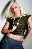 pięknej blondynki powabna dziewczyna Zdjęcie Royalty Free