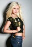 pięknej blondynki powabna dziewczyna Zdjęcie Stock