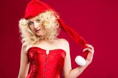 Pięknej blondynki seksowna dziewczyna Fotografia Royalty Free