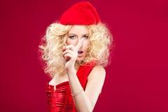 Pięknej blondynki seksowna dziewczyna Zdjęcia Royalty Free