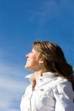 pięknej brunetki ufny portret Obraz Stock
