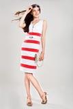 pięknej caucasian sukni seksowna elegancka kobieta Zdjęcie Stock