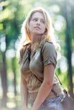 pięknej dziewczyny plenerowy portret Fotografia Stock