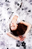 pięknej dziewczyny sypialni potomstwa Zdjęcia Stock