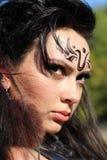 Pięknej dziewczyny wojownika agresywne amazonki Zdjęcie Royalty Free