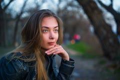 pięknej dziewczyny zadumany portret Obraz Royalty Free