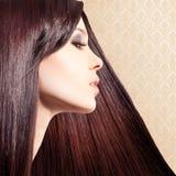 Pięknej, eleganckiej kobiety ulotki projekt, Fotografia Stock