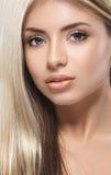 Pięknej kobiety portreta twarzy blond studio Obraz Stock