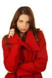 pięknej mody seksowna zima kobieta Zdjęcie Stock