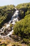 Pięknej natury Norwegia naturalny krajobraz antena Zdjęcie Stock