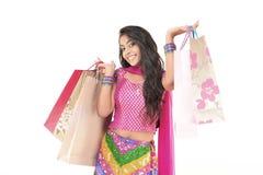 pięknej smokingowej etnicznej dziewczyny indyjski target1956_0_ Fotografia Stock