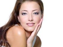 pięknej twarzy seksowni kobiety potomstwa Zdjęcia Royalty Free