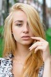 piękni blondynki dziewczyny potomstwa Fotografia Royalty Free